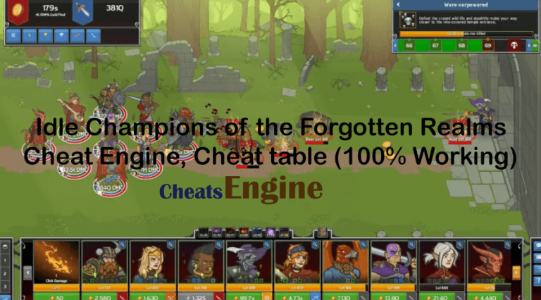 Idle Champions of the Forgotten Realms Cheat Engine,  Cheat table (100% Working)