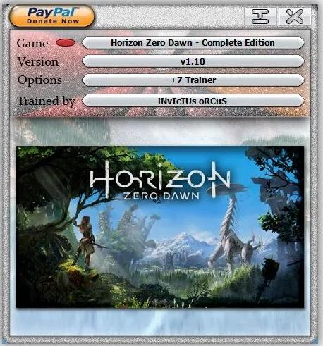 Horizon: Zero Dawn - Complete Edition: Trainer +7 v1.10