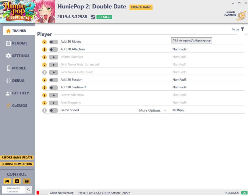 HuniePop 2 Double Date: Trainer +10 v2019.4.3.32988 HF