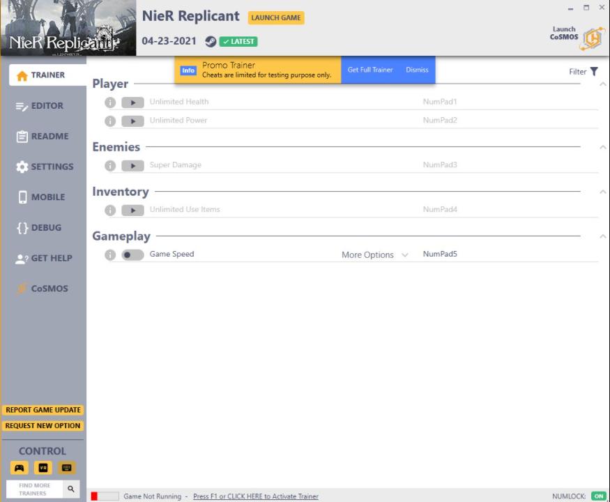 NieR: Replicant - Trainer +31 v1.0