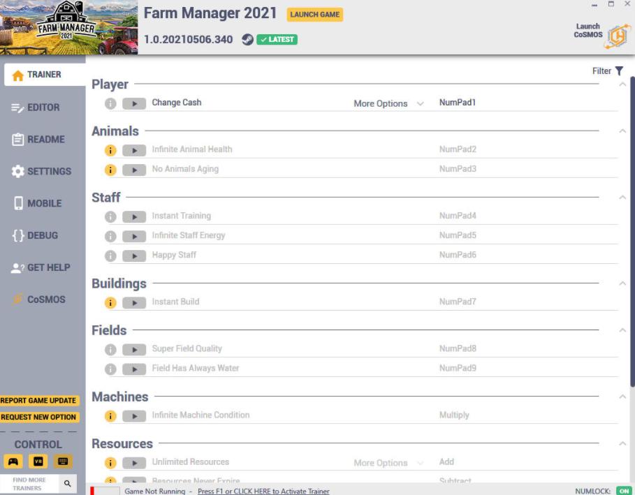 Farm Manager 2021: Trainer +17 v1.0.20210506.340