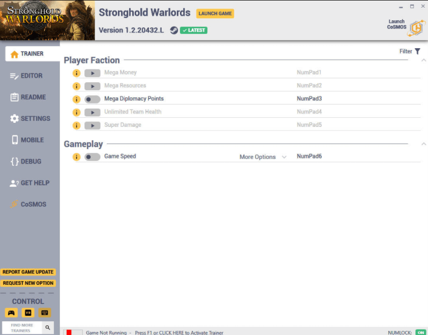 Stronghold: Warlords - Trainer +8 v1.2.20432.L